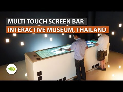 Interactive Multi Touch Table Bar for Museum in Thailand