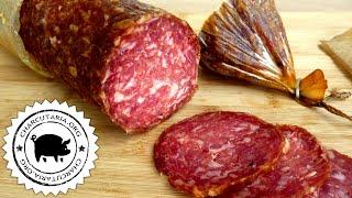 Smoked German Salami dry cured (en subtitles)