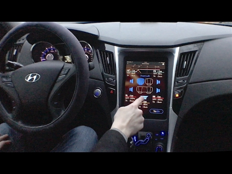 "Demo of my 9.7"" iPad Stereo System installed in a Hyundai Sonata!"