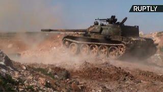 اشتباكات عنيفة في بلدة قمحانة بريف حماة في سوريا