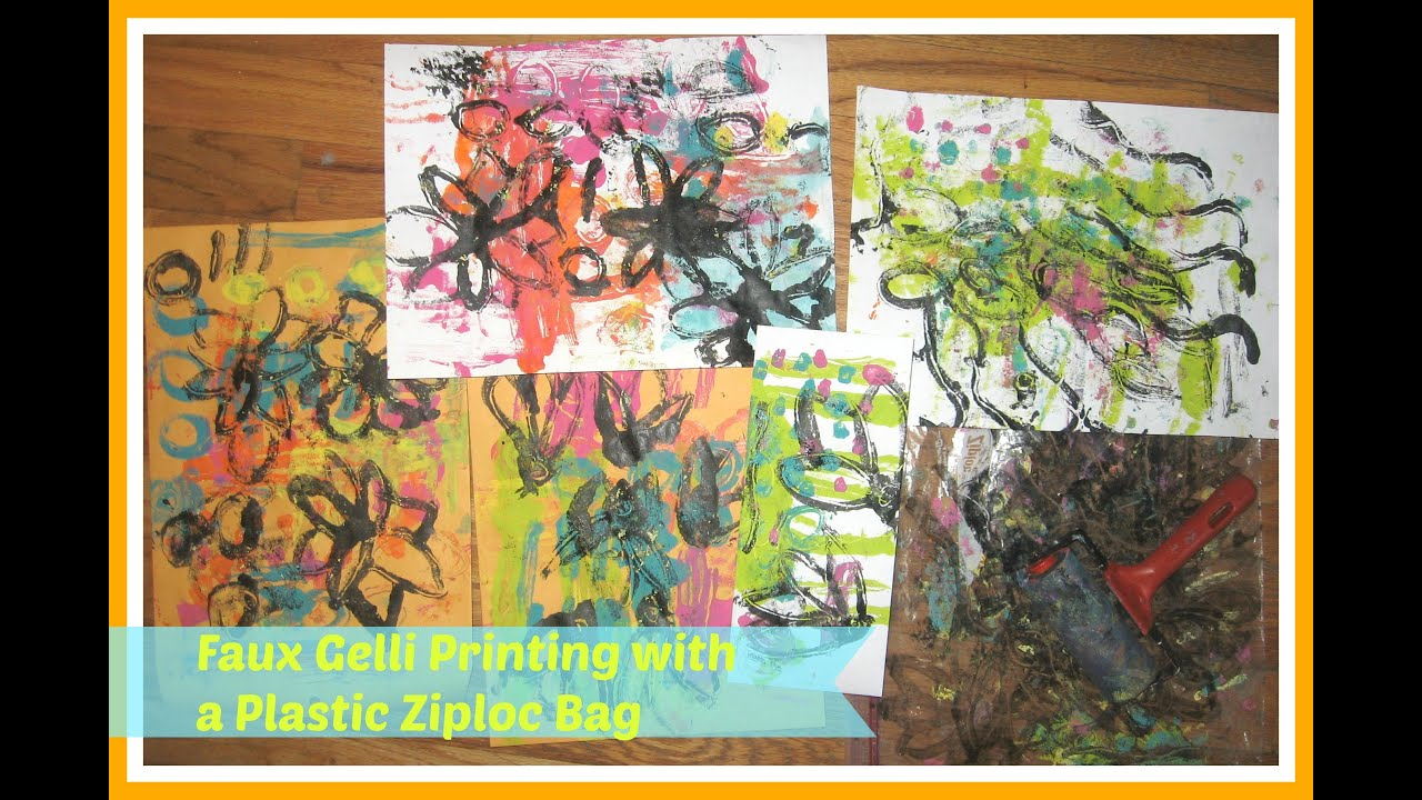 Faux gelli printing with a ziploc baggiehow to gelli printing faux gelli printing with a ziploc baggiehow to gelli printing without a gelli plate tutorial baditri Gallery