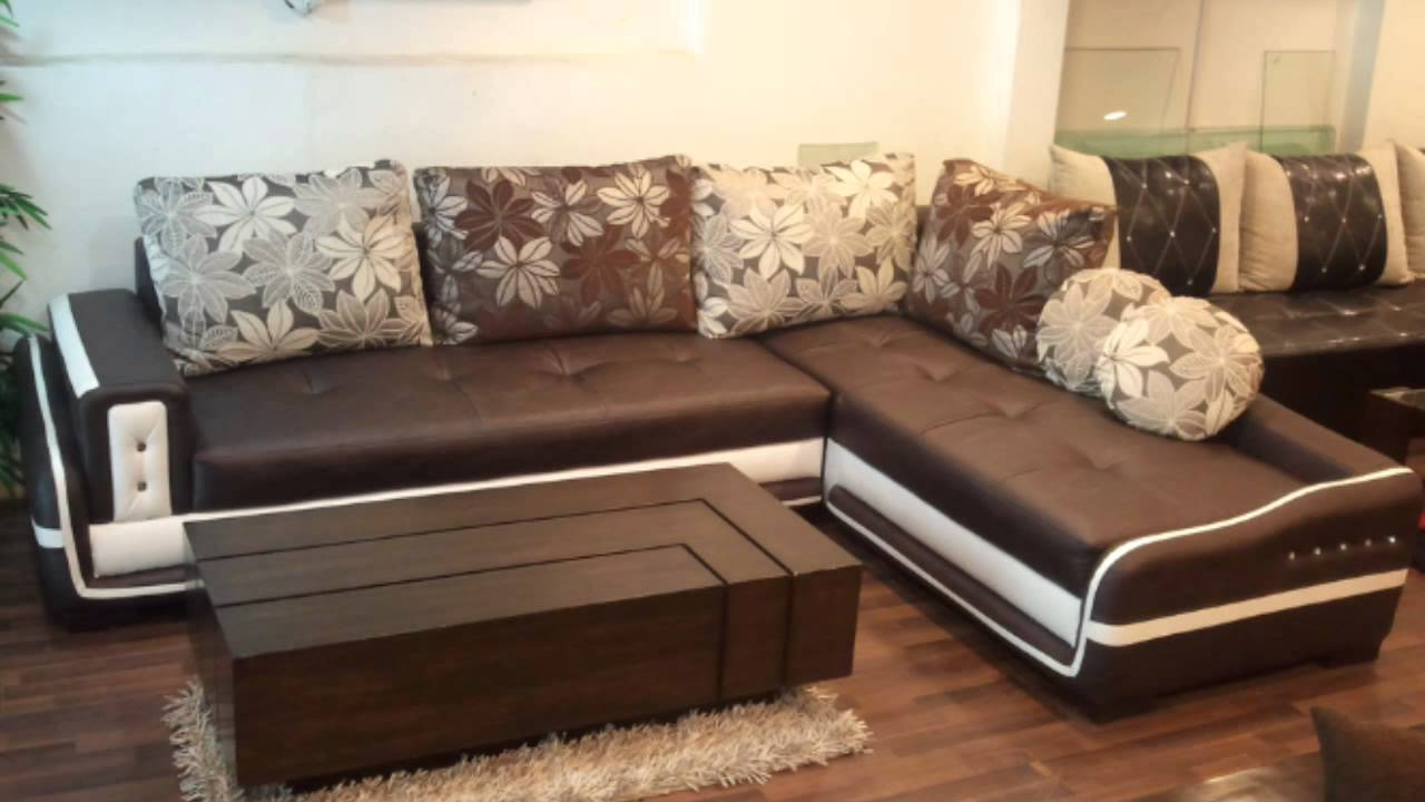 Corner sofa set - YouTube