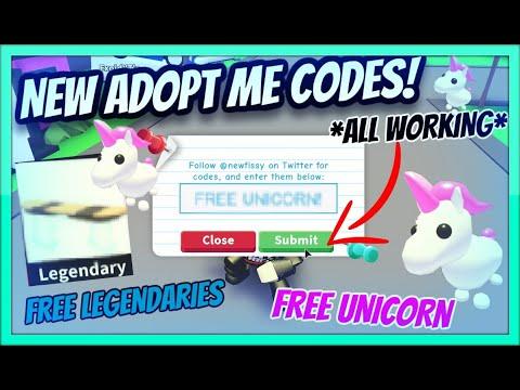New Adopt Me Codes All Working Free Unicorn November 2019 Roblox Youtube