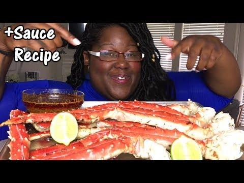 How I Make Seafood/Blove's Sauce Recipe + King Crab Mukbang