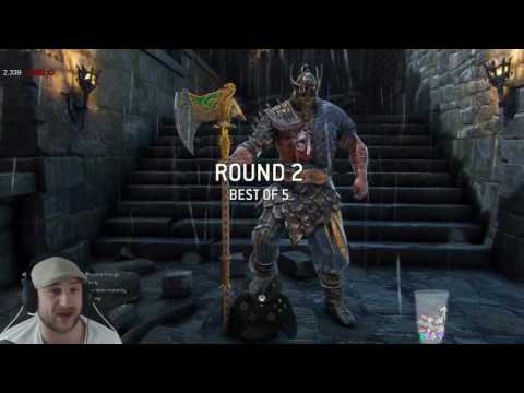 For Honor – Peacekeeper vs Warden & Raider - HIS BLOODY REACTIONS!