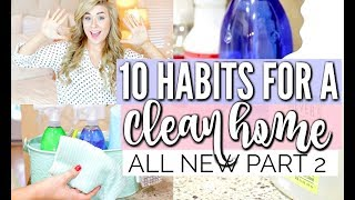 10 HABITS FOR A CLEAN HOME   PT 2   TIPS FOR KEEPING YOUR HOUSE CLEAN   LoveMeg
