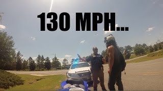 PULLED OVER FOR SPEEDING | COP | 130 in a 45 | RESPECT COPS | MOTOVLOG