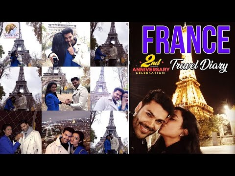 Ganesh & Nisha France Travel Diary | Celebrity Couple | 2nd Anniversary
