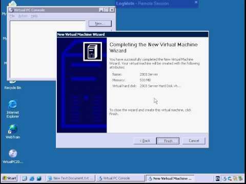 Virtual PC 2007 Setup