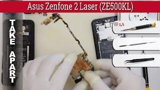 How to disassemble 📱 Asus Zenfone 2 Laser ZE500KL Take apart Tutorial
