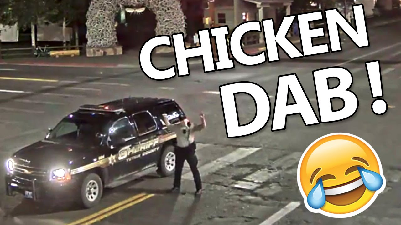 Funny Chicken Police: Funny Jackson Hole Police Doing Chicken Dance On The