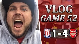 Stoke City 1 v 4 Arsenal | Superb Performance | Matchday Vlog | Game 52