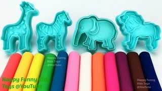 Fun Learning Colours and Animals Names with Play Doh Modelling Clay for Kids