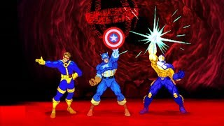 Marvel VS Capcom 2 - Cyclops/Captain America/Iron Man - Expert Difficulty Playthrough