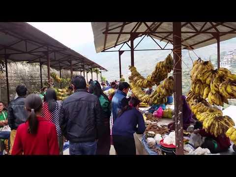 Wangdue Bhutan Sunday market