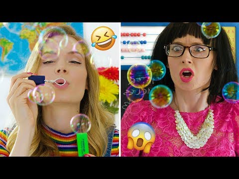 Toys in School? Pretend Play DIY Slime, Squishy School Supplies Pranks