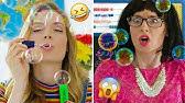 Toys in School? Pretend Play DIY Slime, Squishy School Supplies Pranks