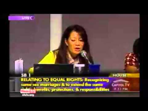 OHA Chair Against Marriage Equality