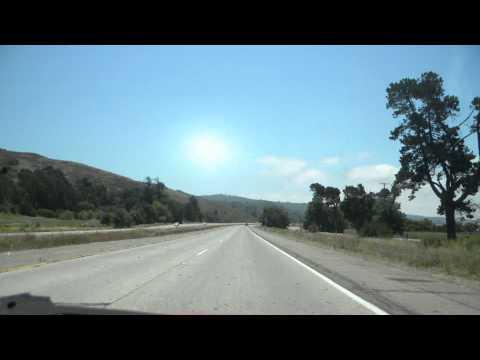Time Lapse Bakersfield to Santa Barbara California through Taft and Ojai on Hwy 33