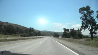 Time Lapse Bakersfield to Santa Barbara California through Taft and Ojai on Hwy 33