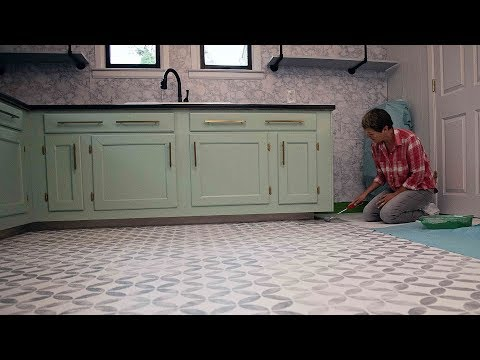 How to Stencil an Vinyl Floor - DIY Network