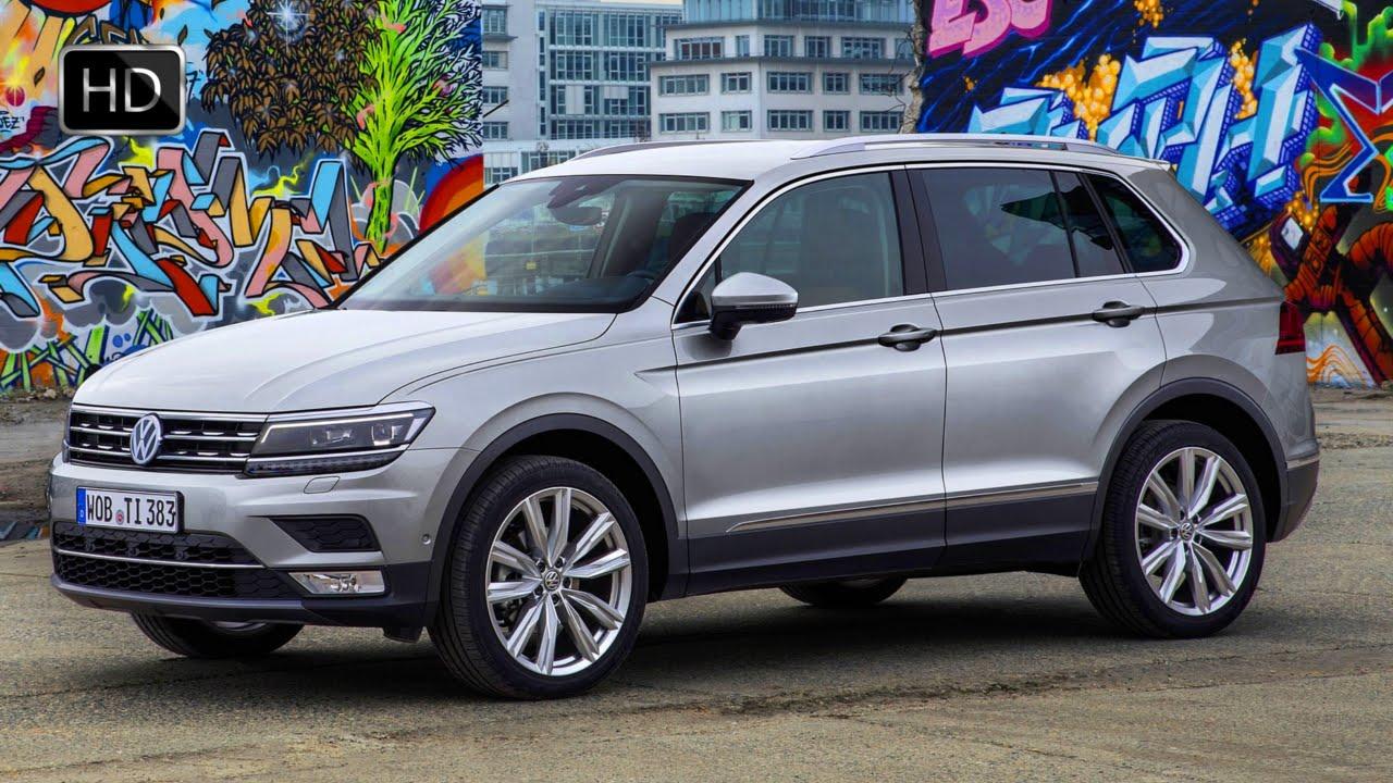 2016 Volkswagen Tiguan Compact Suv Silver Metallic Exterior Interior Design Hd