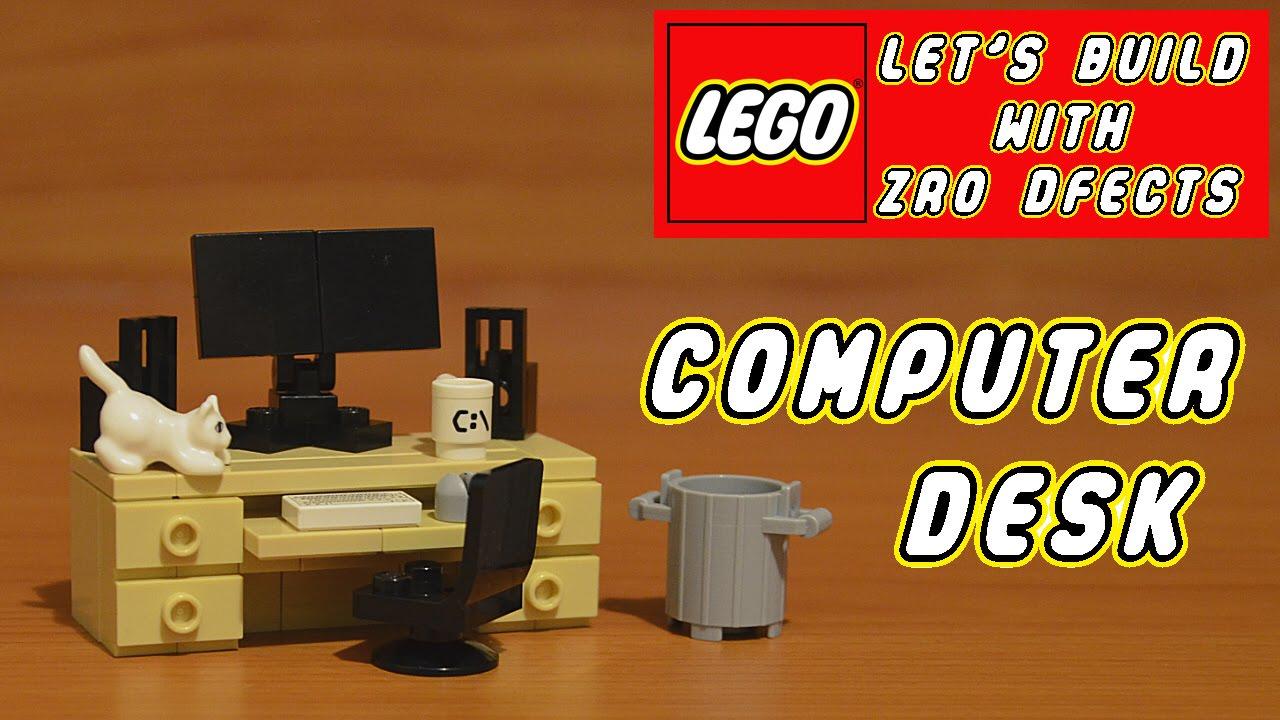 how to build a lego desk