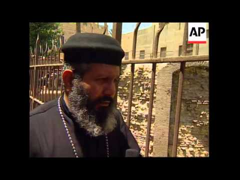 EGYPT: CAIRO: GOVERNMENT PLEDGE MONEY TO RENOVATE ANCIENT CHURCH