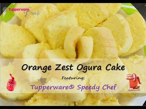Orange Zest Ogura Cake