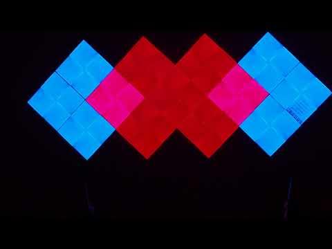 Nanoleaf Canvas - Rhythm demo, centered soundbar