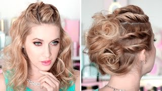 Свадебные/вечерние причёски на вечеринку быстро и легко, самой себе, для средних волос(, 2015-12-02T09:30:22.000Z)