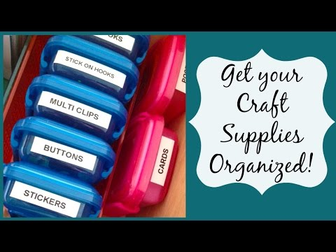 How to:Small Space Craft Supply Organization