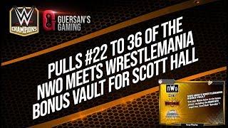 Opening NWO/Wrestlemania Bonus Vault Pulls #22 to 36 / WWE Champions 🍀