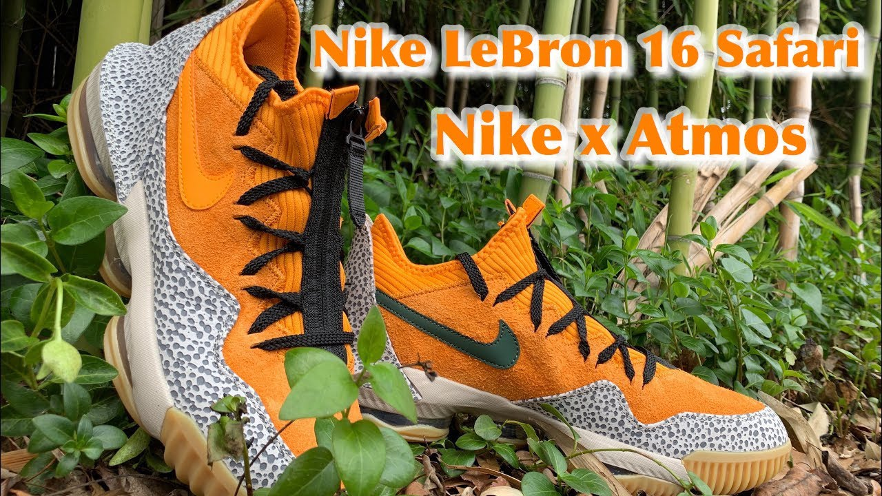 f6a5cc06e8f NIKE LeBRON 16 SAFARI - Review and On Foot Opinion - YouTube