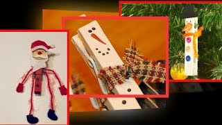 Christmas Ornaments with Clothespins – Amazing Handcrafted Ideas