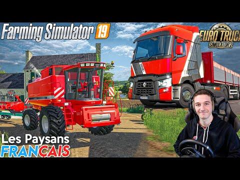 Je conduis un tracteur et un camion ! LES PAYSANS FRANCAIS & EURO TRUCK SIMULATOR 2 !