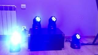 Démo Lyres Wash 7*12 RGBW Avec Logiciel QLC
