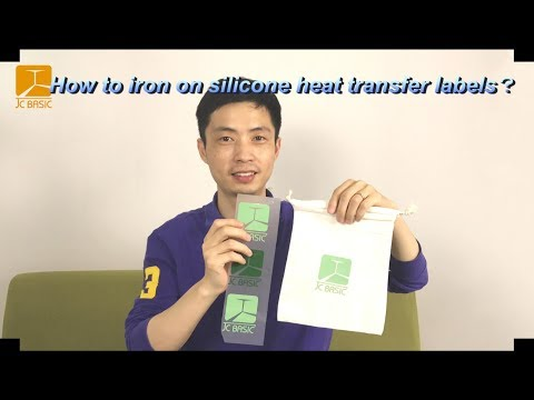 How to iron on silicone heat transfer label by household iron?