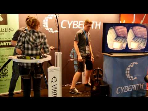 Cyberith Virtualizer Demo auf GamesCom 2014 [4K Deutsch]