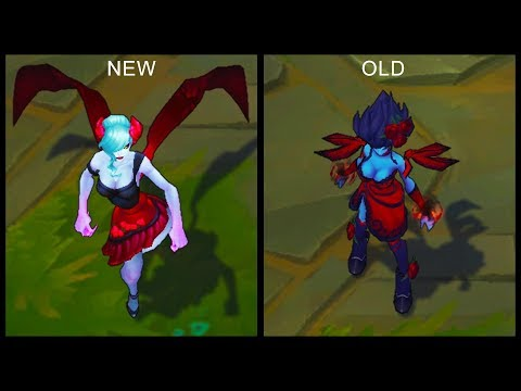 All Evelynn Skins NEW and OLD Texture Comparison Rework 2017 (League of Legends)