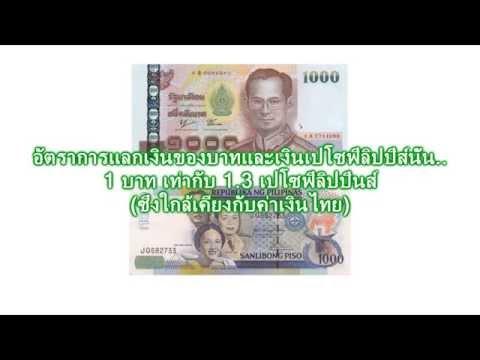 อัตราแลกเงินไทยกับเงินฟิลิปปินส์