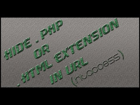 Hide .php or .html extension in url (ss)