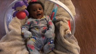Teen Mom Vlog #20   Black Friday Shopping, Putting Up The Christmas Tree, Newborn's First Smiles