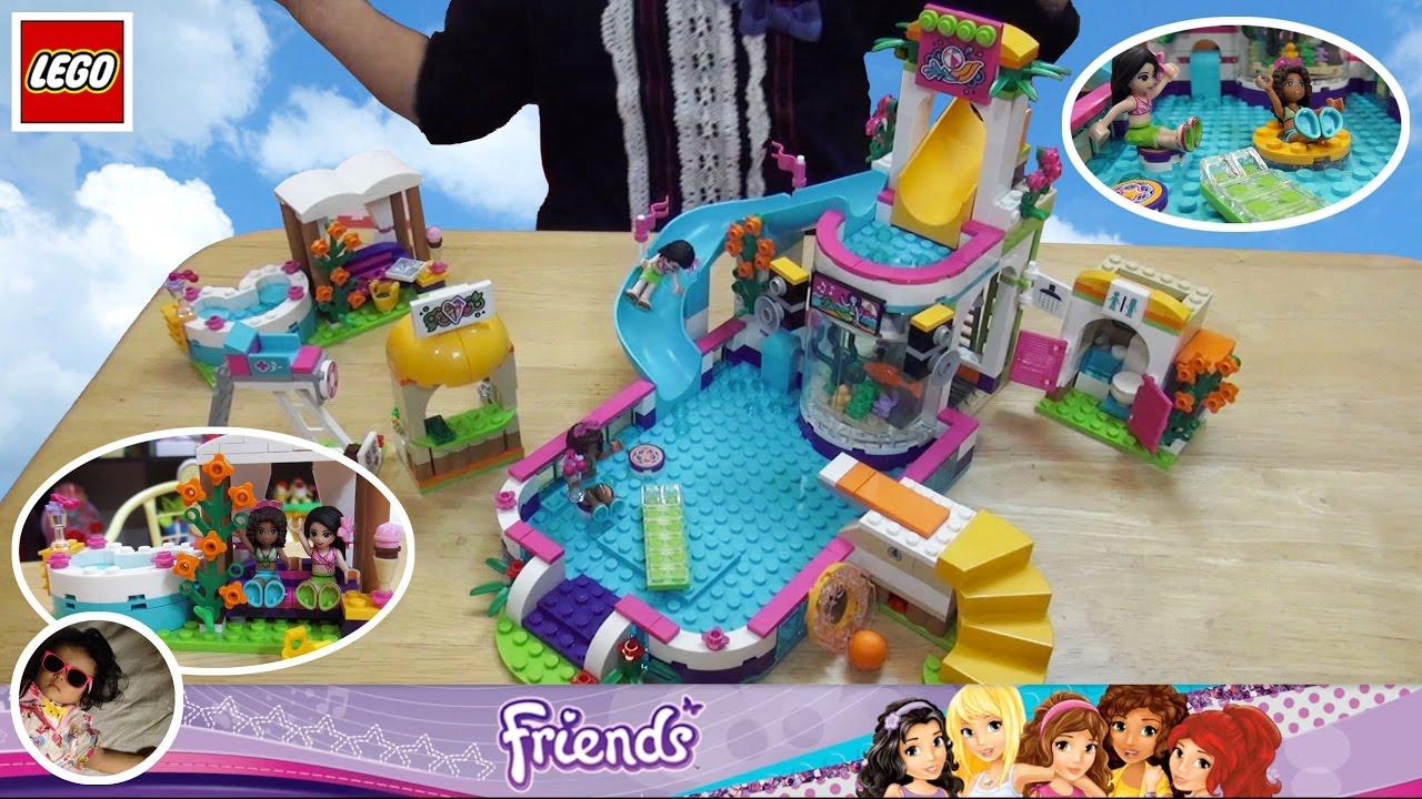 Lego Friends 41313 Heartlake Summer Pool 2017 Kids Unbox