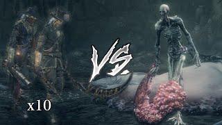 Orphan of Kos VS 12 Old Hunters (Bloodborne Boss VS Boss Mod)