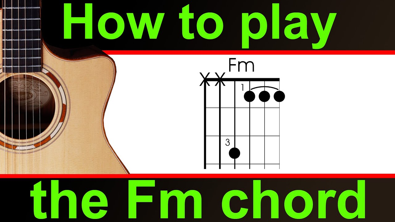 How to play fm guitar chord the f minor half barre chord youtube how to play fm guitar chord the f minor half barre chord hexwebz Gallery