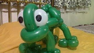 Camaleón Pascal con globoflexia/ Pascal Chameleon Balloon