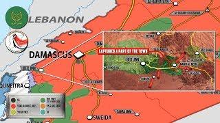 25 декабря 2017. Военная обстановка в Сирии. Сирийская армия штурмует котел Нусры у границы Израиля.