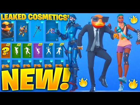 *NEW* All Leaked Fortnite Skins & Emotes..! *AGENT FISHSTICK* (Echo, Contract Giller, Zina,Deadpool)
