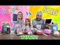 GOOGLE vs SIRI Toy Unboxing! L.O.L. SURPRISE MAKEOVER SERIES, UNDER WRAPS, POOPSIES, FINGERLINGS..